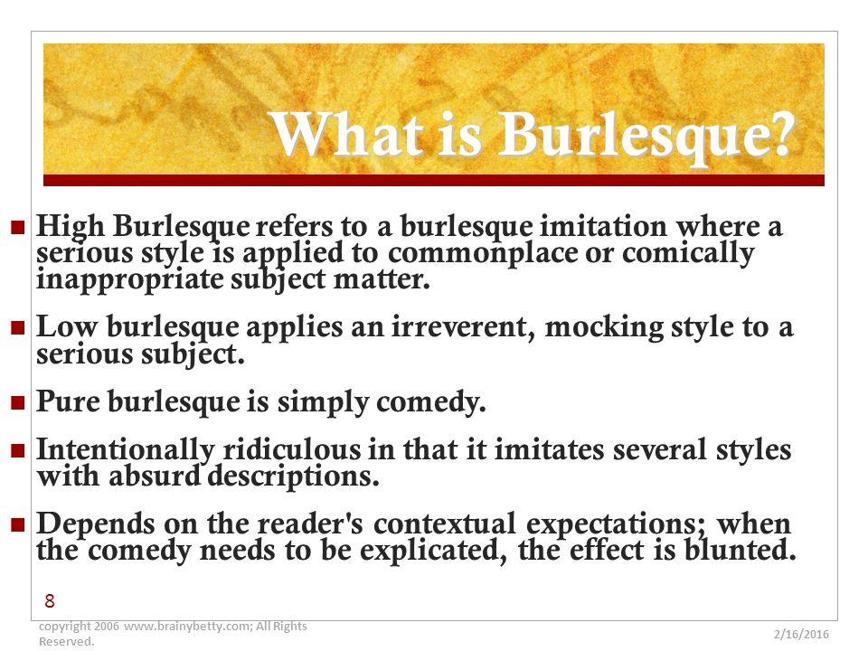 Define Burlesque In Literature