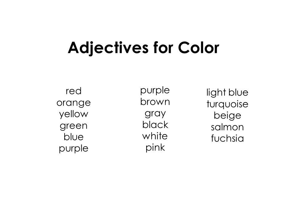 an adjective describes a