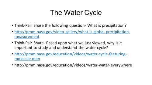 small resolution of the water cycle think pair share the following question what is precipitation