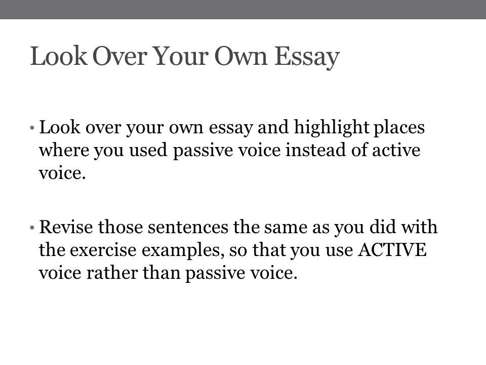 Passive Essay Resume Talks Ap Language And Composition Argument