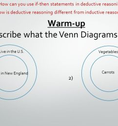 warm up describe what the venn diagrams states 1 2 live in [ 1280 x 720 Pixel ]