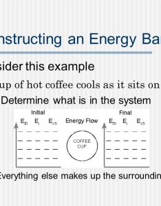 Constructing an energy bar chart consider this example  cup of hot coffee cools as it also charts how to represent the role in physical rh slideplayer