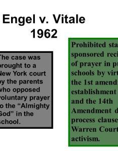 engel  also ap gov supreme court cases for more info go to rh slideplayer