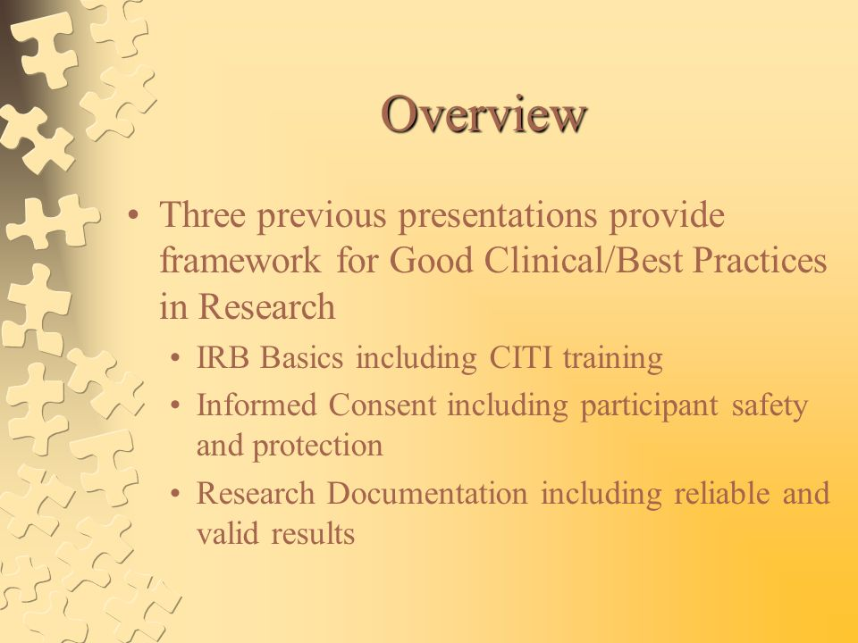 Good Clinical Practices And Best Research Practices At MU Health