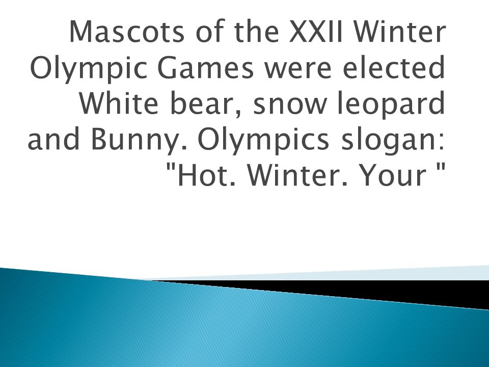 mascots of the xxii