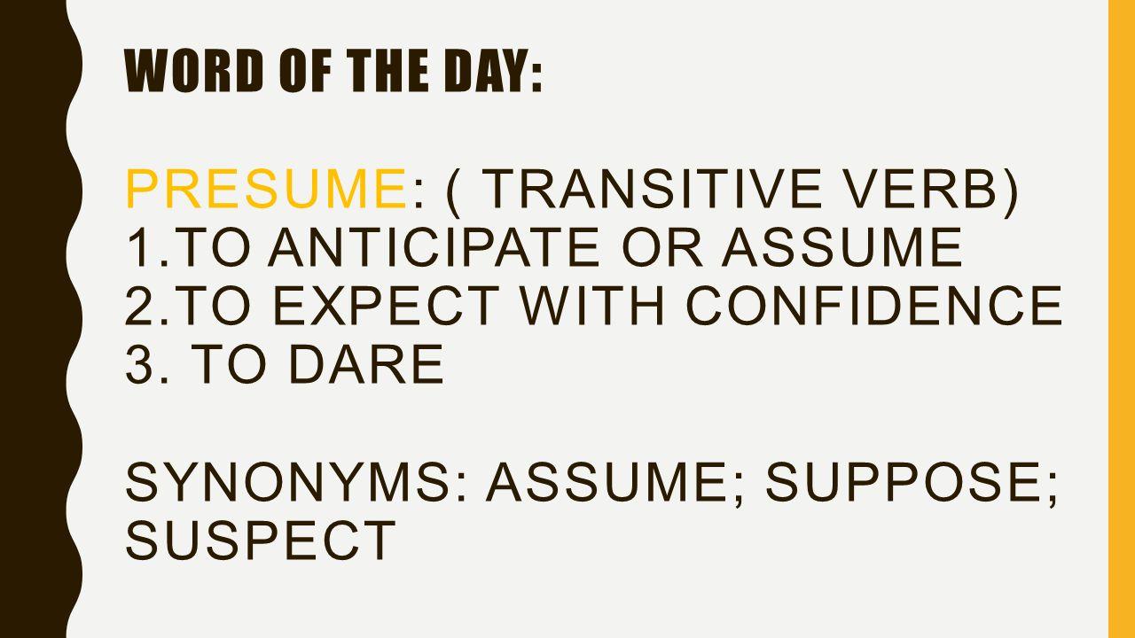 Presume synonym