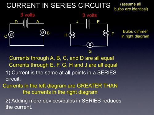 small resolution of 4 current in series circuits 3 volts assume all bulbs are identical a b c d currents through a b c and d are all equal currents through e f g