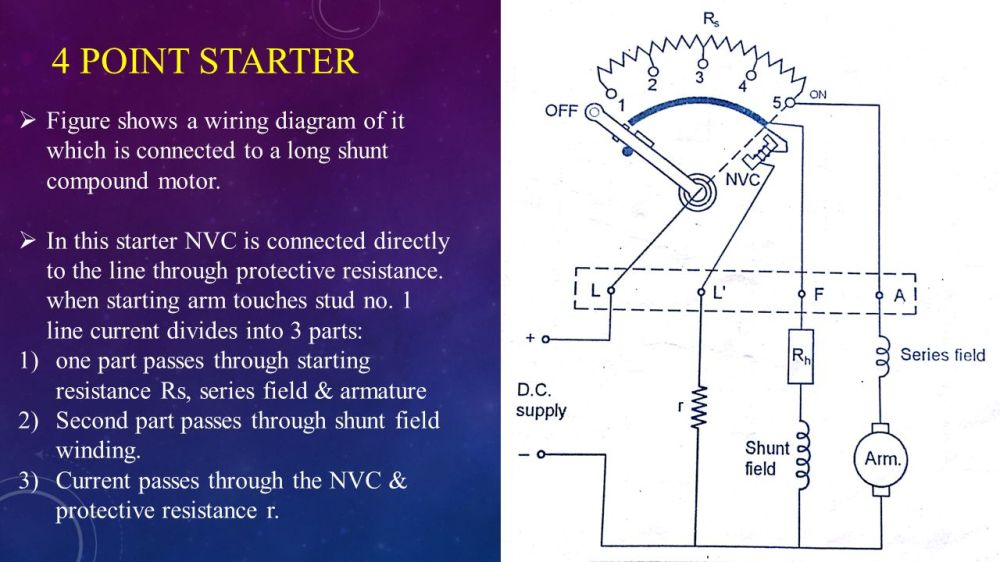 medium resolution of 4 point starter figure shows a wiring diagram of it which is connected to a