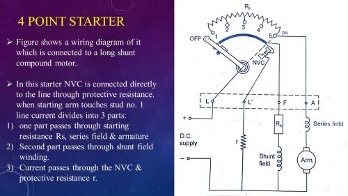 small resolution of 4 point starter figure shows a wiring diagram of it which is connected to a