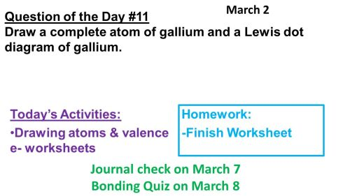 small resolution of question of the day 11 draw a complete atom of gallium and a lewis dot