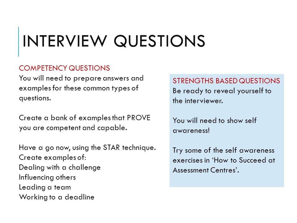 star interview question
