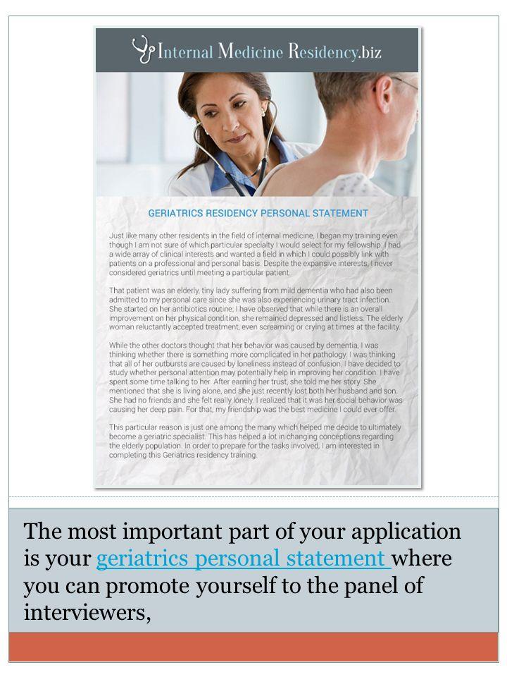 Personal statement residency internal medicine img Custom paper Help ...