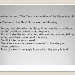 The Cask Of Amontillado Story Diagram 4 Wire Hot Tub Wiring By Edgar Allan Poe Elements A Short I Decided To Read