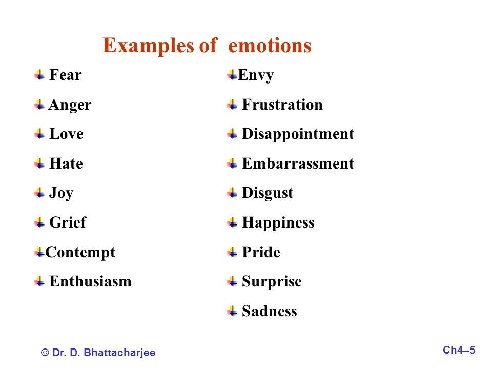 examples of emotion