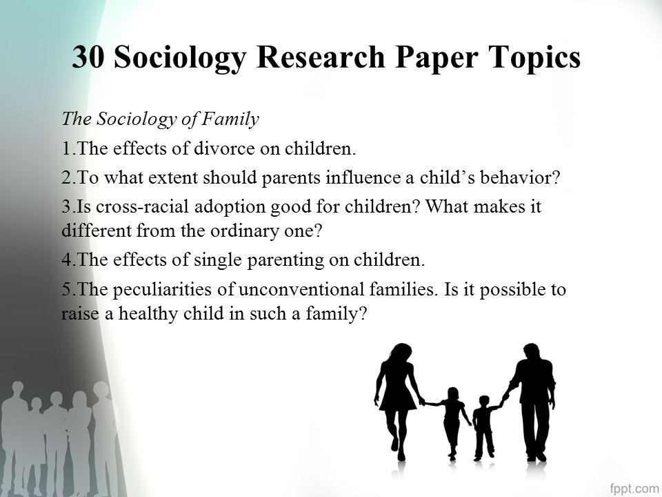 Sociology Topics For Essay Sociology Research Paper Topics Org