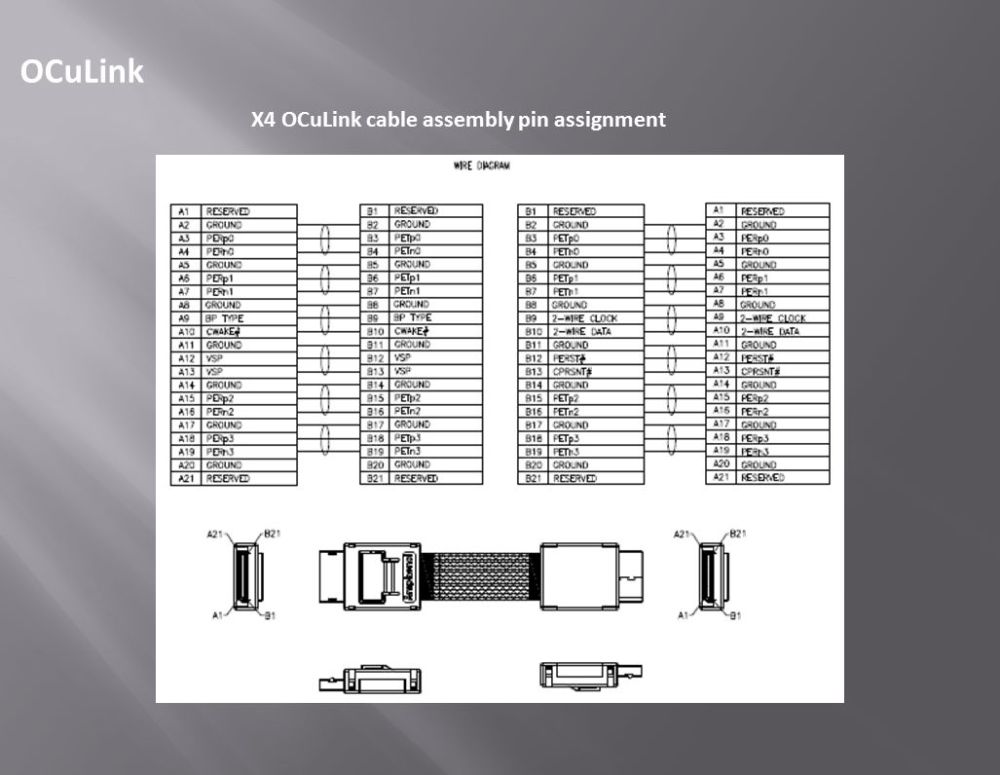 medium resolution of 26 oculink x4 oculink cable assembly pin assignment