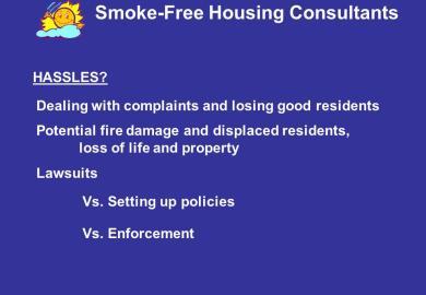 Ca Housing Smoking Law