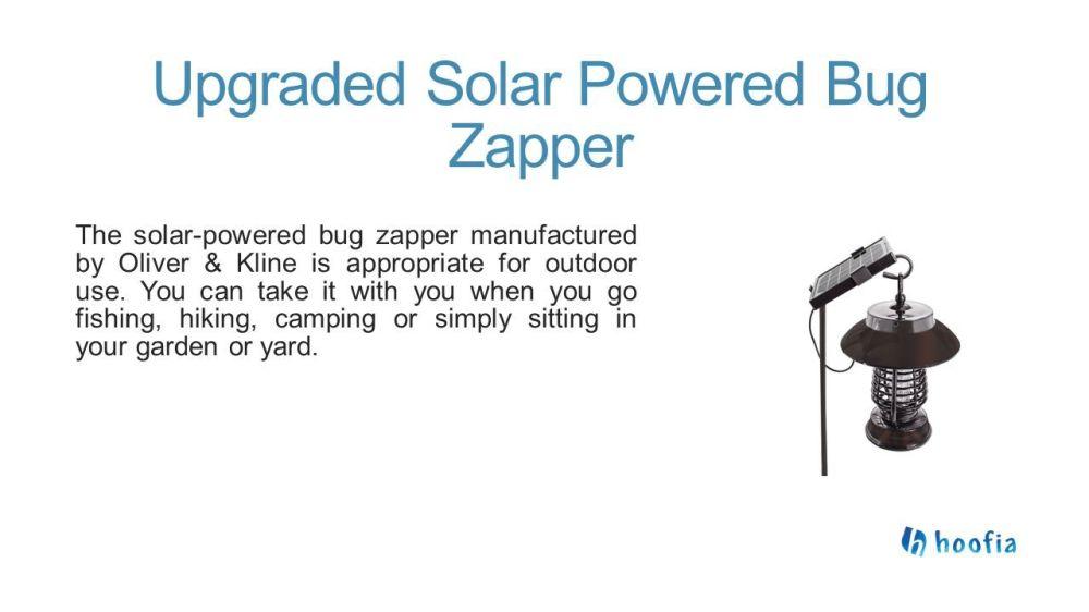 medium resolution of upgraded solar powered bug zapper the solar powered bug zapper manufactured by oliver kline