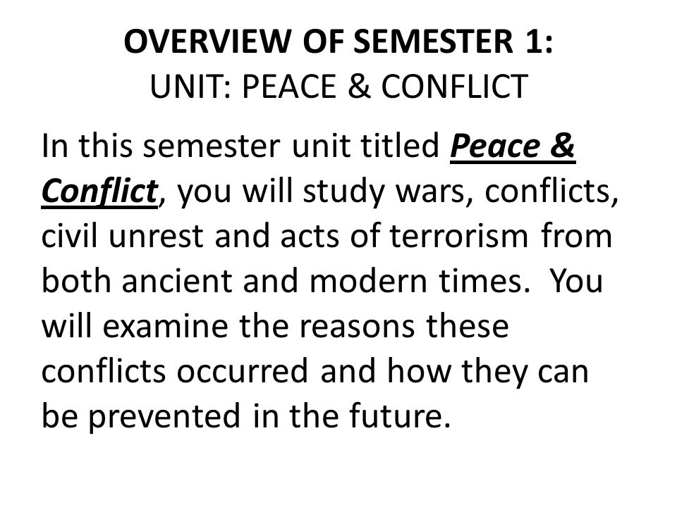 War and peace essay outline