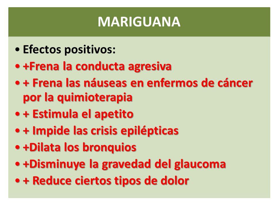 Resultado de imagen para efectos positivos de la marihuana