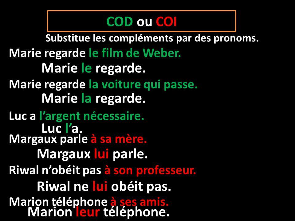 Resultado de imagen de pronoms COI ET COD EXEMPLES