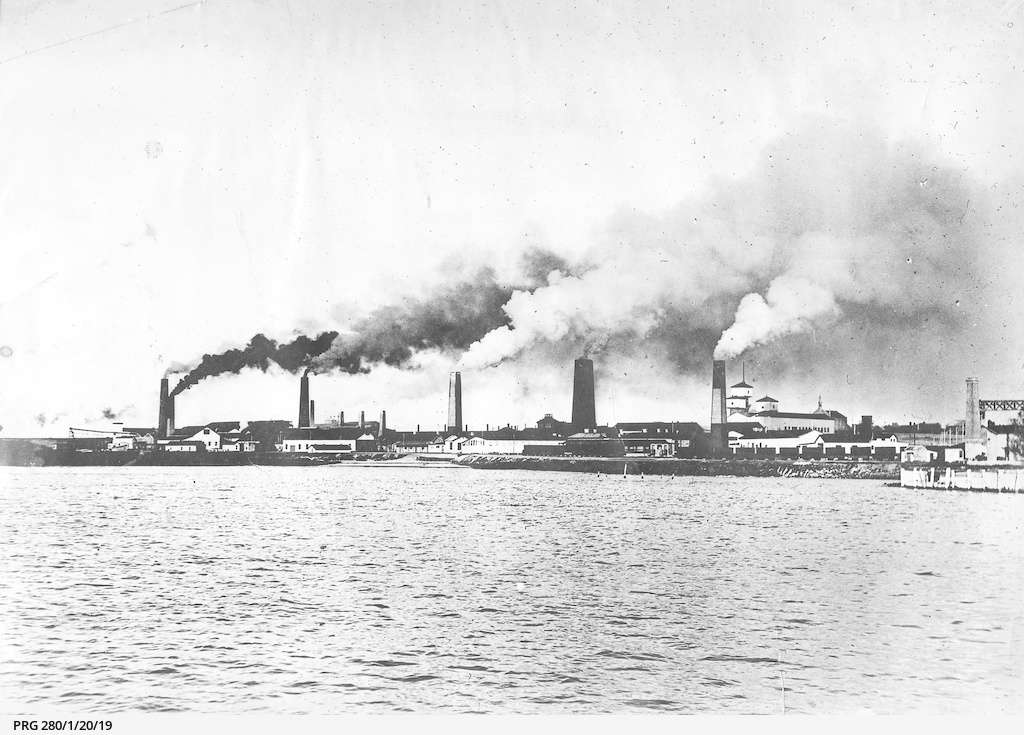 Smelter chimneys at Wallaroo