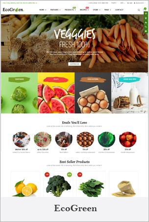 EcoGreen - Multipurpose Organic, Fruit, Vegetables Shopify Responsive Theme
