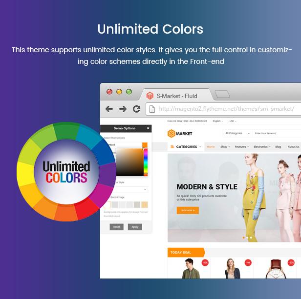 Prestashop Fashion Theme - Unlimited Colors