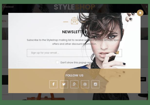 "Styleshop - Newsletter ""title ="" Styleshop - Newsletter"