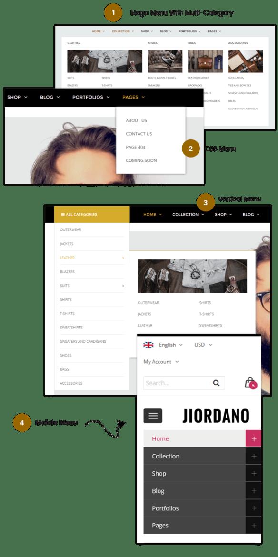 Responsive Technology WooCommerce WordPress Theme - Menu styles