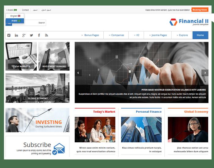 SJ Financial II - Multilingual & RTL Language