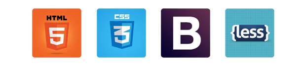 """HTML5, CSS5, BOOTSTRAP 3 and less """"title ="""" HTML5, CSS5, BOOTSTRAP 3 & LESS"""