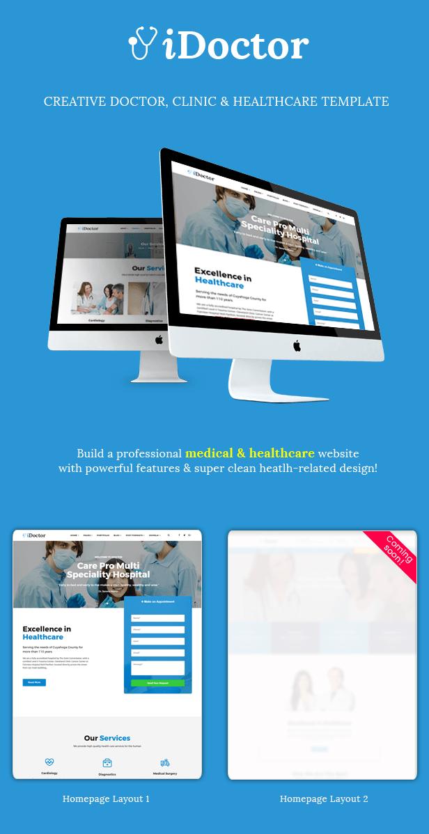Sj iDoctor - Responsive Joomla Doctor, Clinic & Healthcare Template