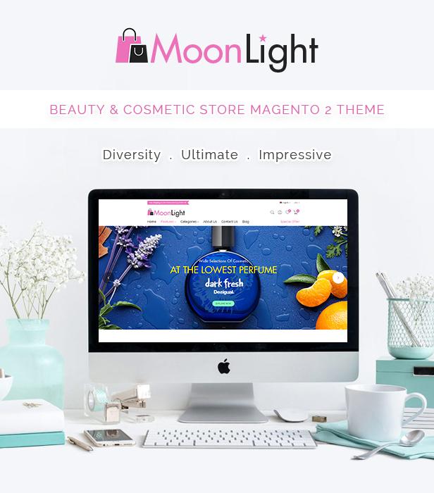 MoonLight - Elegant Cosmetics & Accessories Magento 2 Theme - 1