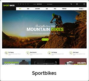 SportBikes - Sports WordPress Theme