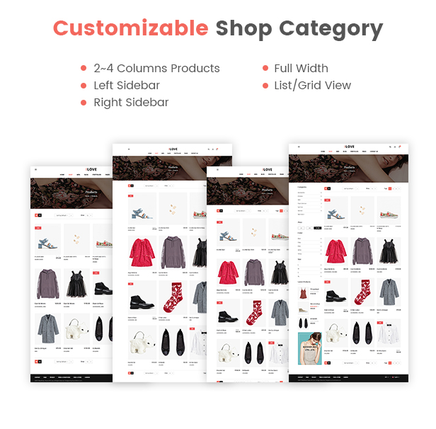 Customizable Shop Category