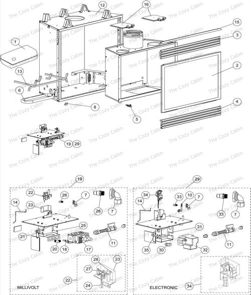 small resolution of dt 500cmn 65l05 dt 500cmp 65l06 dt 500cen 65l07 775634mrevncdt500 the cozy cabin lennox hearth parts store