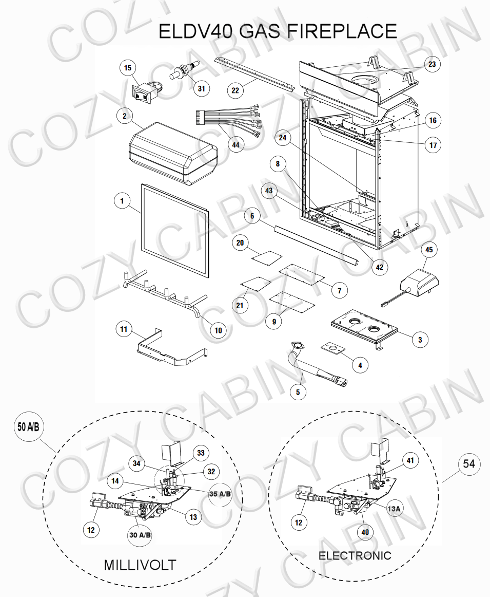 Elite Series Gas Fireplace (ELDV40) (ELDV40) The Cozy