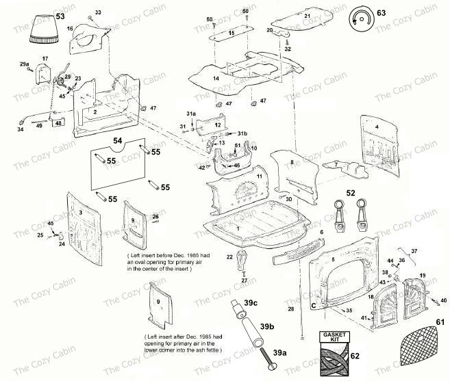Wood Fireplace Parts Diagram