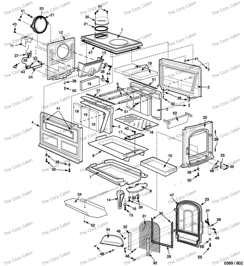 Wood Stove: Vermont Castings Wood Stove Parts