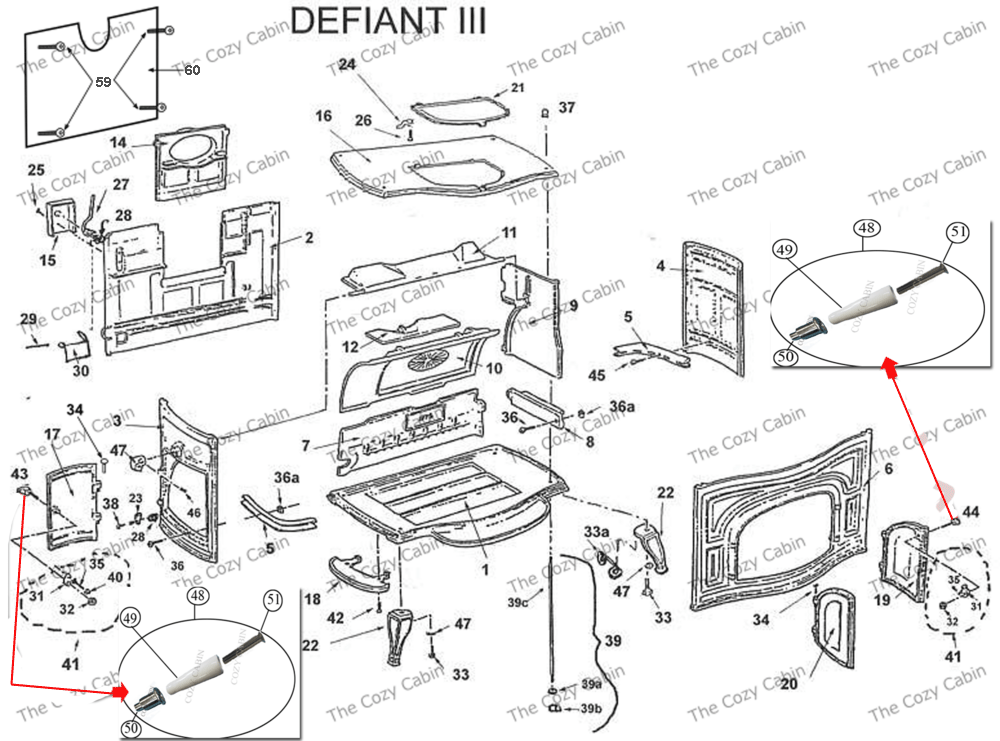 Pellet Stove Thermostat Wiring Diagram Defiant Iii Parlor Stove Models 0019 Amp 0028 003 The Cozy