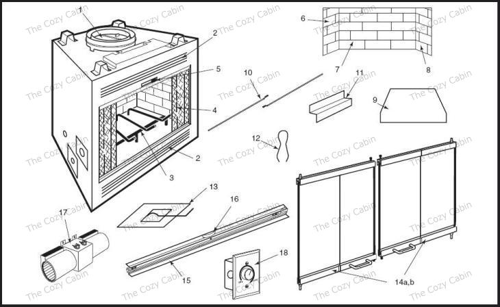WMC36 (FE40C0) (WMC36) The Cozy Cabin Stove & Fireplace
