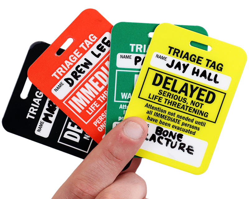 Triage Tags Identify Classify Mark Amp Tag Victims