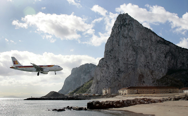 Gibraltar Airport. Where a Road Goes Through the Runway - AirlineReporter : AirlineReporter