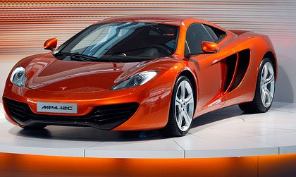 The new Mclaren MP4-12C road car is unveiled at the Mclaren  Technology Centre in Woking, England.