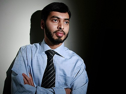 Moving back to Australia ... Indian doctor Mohamed Haneef, who was wrongly accused of terrorism in 2007.