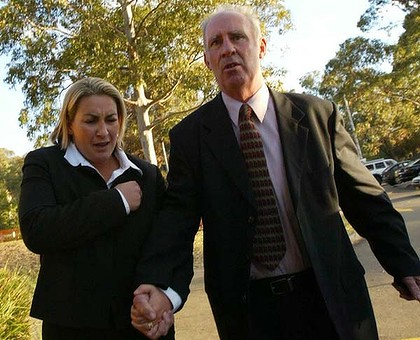 The father and daughter outside Westmead Coroners Court in 2005.