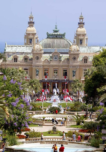 Home of the high-roller ... Monaco's casino.