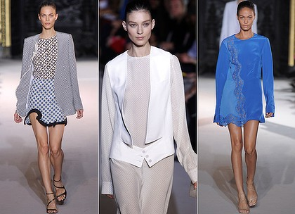 For Paris ... Stella McCartney designs from the 2012 spring-summer ready-to-wear collection.