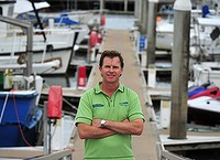 Steve Davies, General Manager Operations for Big Cat at Cairns Marina on May 2012, Photography Sue Wellwood